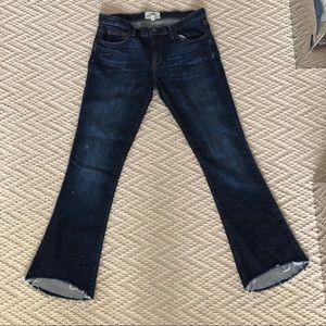 Dark wash flip flop jeans